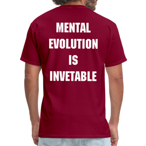 MENTAL EVOLUTION Unisex Classic T-Shirt - burgundy
