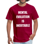 Load image into Gallery viewer, MENTAL EVOLUTION Unisex Classic T-Shirt - dark red