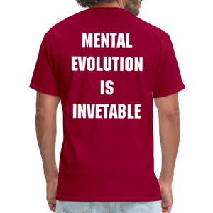 MENTAL EVOLUTION Unisex Classic T-Shirt - dark red