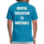 Load image into Gallery viewer, MENTAL EVOLUTION Unisex Classic T-Shirt - turquoise