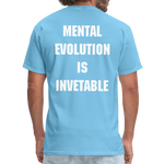 Load image into Gallery viewer, MENTAL EVOLUTION Unisex Classic T-Shirt - aquatic blue