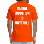 Load image into Gallery viewer, MENTAL EVOLUTION Unisex Classic T-Shirt - orange