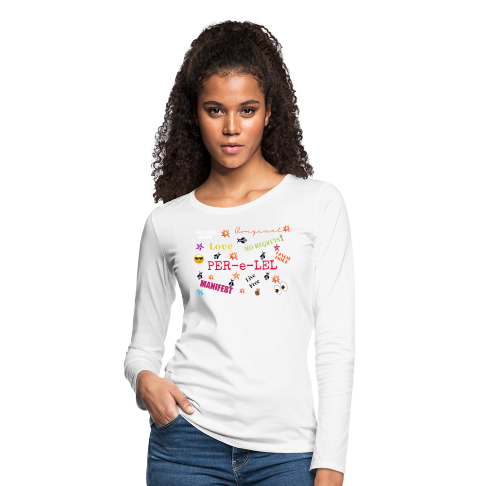 Emoji Women's Premium Long Sleeve T-Shirt - white
