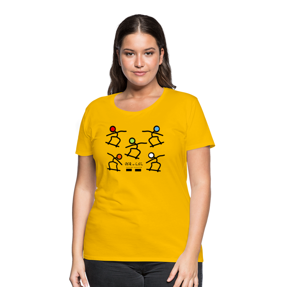 Skateboard Women's Premium T-Shirt - sun yellow