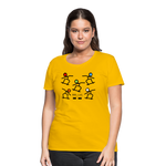 Load image into Gallery viewer, Skateboard Women's Premium T-Shirt - sun yellow