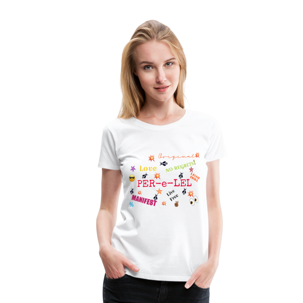 Emoji Women's Premium T-Shirt - white
