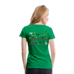 Load image into Gallery viewer, Emoji Women's Premium T-Shirt - kelly green