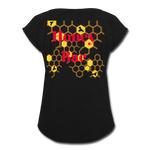 Load image into Gallery viewer, Women's Honey Bae Roll Cuff T-Shirt - black