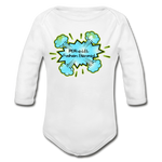 Load image into Gallery viewer, P.F.E Organic Long Sleeve Baby Bodysuit - white