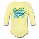 Load image into Gallery viewer, P.F.E Organic Long Sleeve Baby Bodysuit - washed yellow