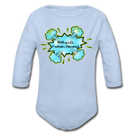 Load image into Gallery viewer, P.F.E Organic Long Sleeve Baby Bodysuit - sky