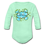 Load image into Gallery viewer, P.F.E Organic Long Sleeve Baby Bodysuit - light mint