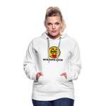 Load image into Gallery viewer, Mornings Suck Women's Premium Hoodie - white