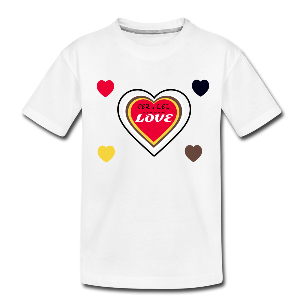 Toddler LOVE- Premium Organic T-Shirt - white