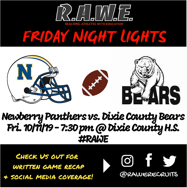 Kobe Delima, Newberry Panthers reign over Dixie County Bears, 56-12