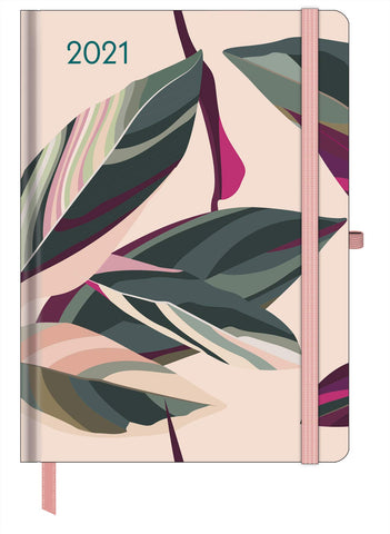 2021 Floral Large GreenLine Diary