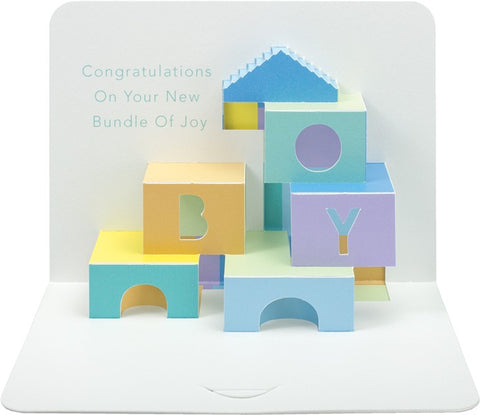 3-D Baby Boy Card PP18