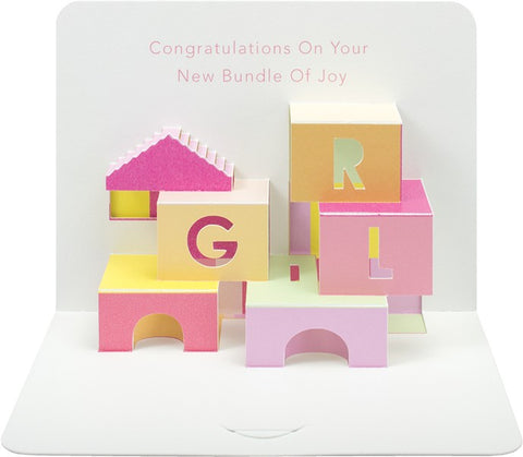 Pop-Up Baby Girl Card