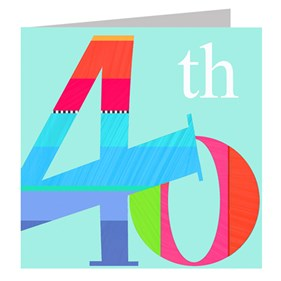 40th Birthday Card by Kali Stileman