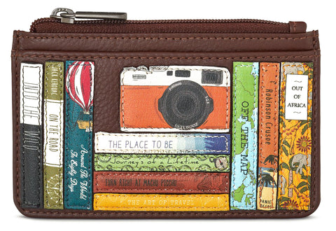 Brown Travel Bookworm Card Holder