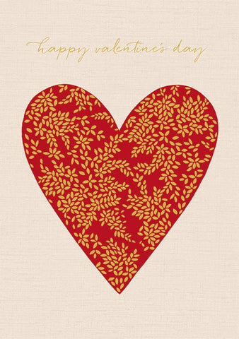 Heart Happy Valentine's Day Card