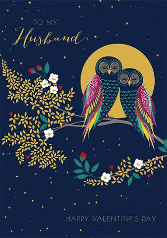 Owls Husband Happy Valentine's Day Card