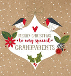 Grandparents Robin Christmas Card