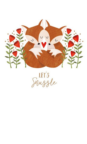 Foxes Let's Snuggle Card