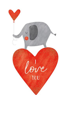 Elephant I Love You Card