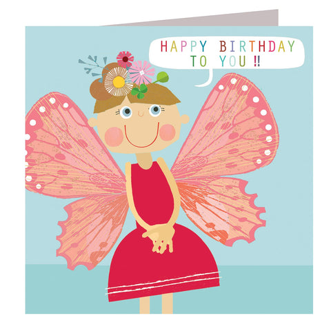Butterfly Girl Birthday Card