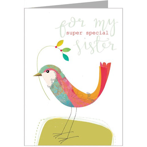For My Super Special Sister Card by Kali Stileman