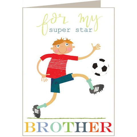 For My Superstar Brother Footballer Card