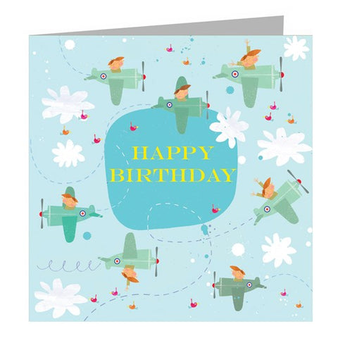 Aeroplanes Birthday Card