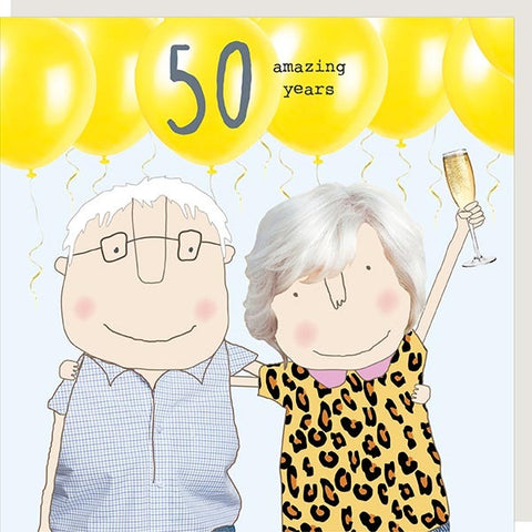 50 Amazing Years Card by Rosie