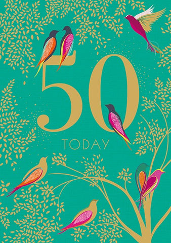 50 Today Card by Sara Miller