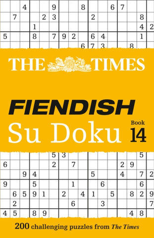 The Times Fiendish SuDoku Book 14: 200 Challenging Puzzles by The Times