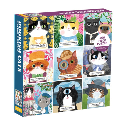 Bookish Cats 500 Piece Jigsaw Puzzle by (author) Mudpuppy