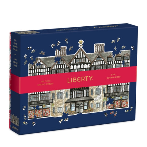 Liberty London Tudor Building 750 Piece Shaped Jigsaw Puzzle by (creator) Galison