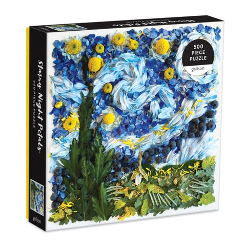 Starry Night Petals 500 Piece Jigsaw Puzzle