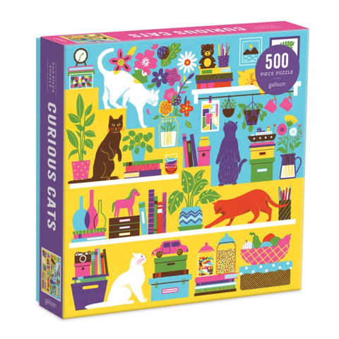 Curious Cats 500 Piece Jigsaw Puzzle by (creator) Galison