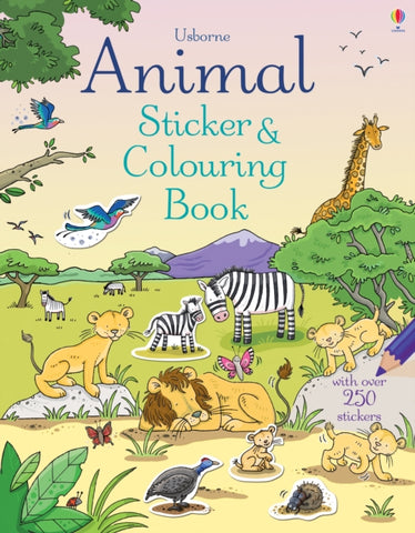Animal Sticker & Colouring Book