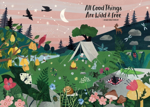 All Good Things Are Wild and Free 1000 Piece Jigsaw Puzzle by Irene Smit