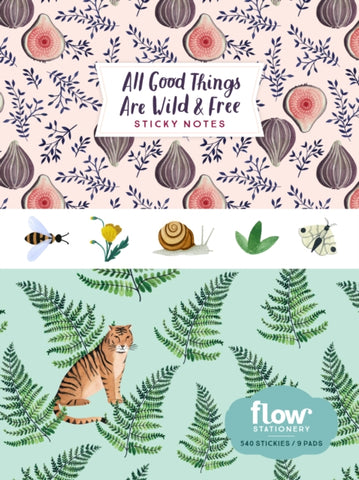 All Good Things Are Wild and Free Sticky Notes by Irene Smit