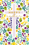Happy Easter Floral Cross Cards, Pack of 6
