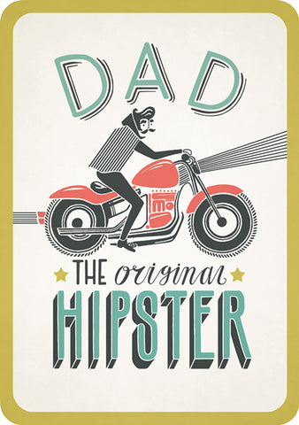 Dad The Original Hipster Card