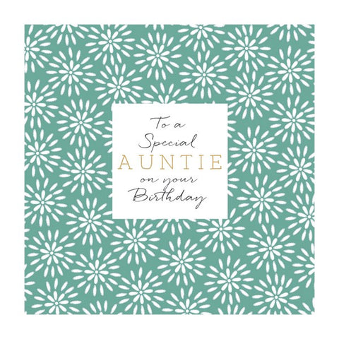 Auntie Floral Card
