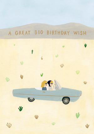 Birthday Drive Card