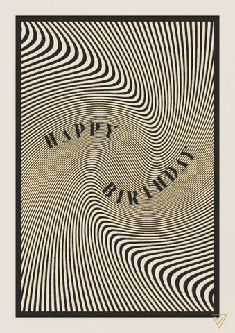 Black And White Birthday Card