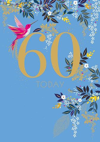 Blue Bird 60th Card
