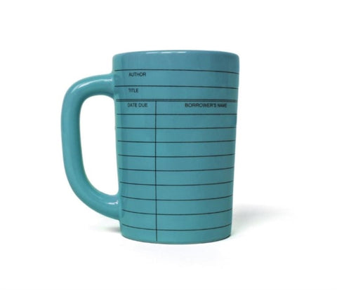 Blue Library Card Mug
